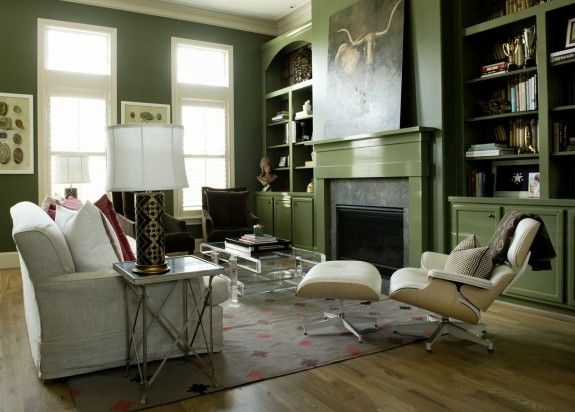 Love alligator alley green paint color masculine rooms - Green paint colours for living room ...