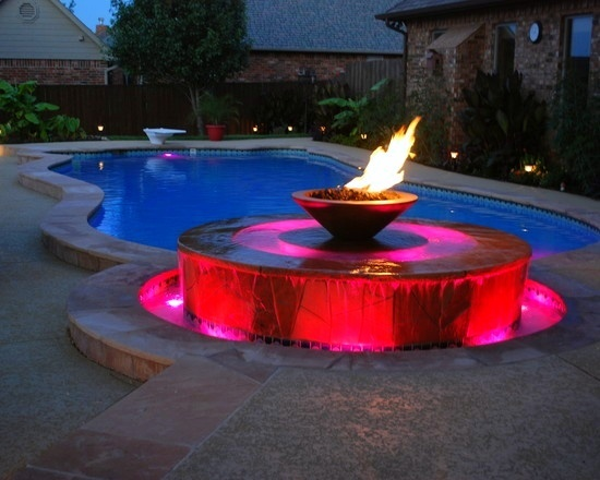 Fire And Water Outdoor Gas Fire Effects