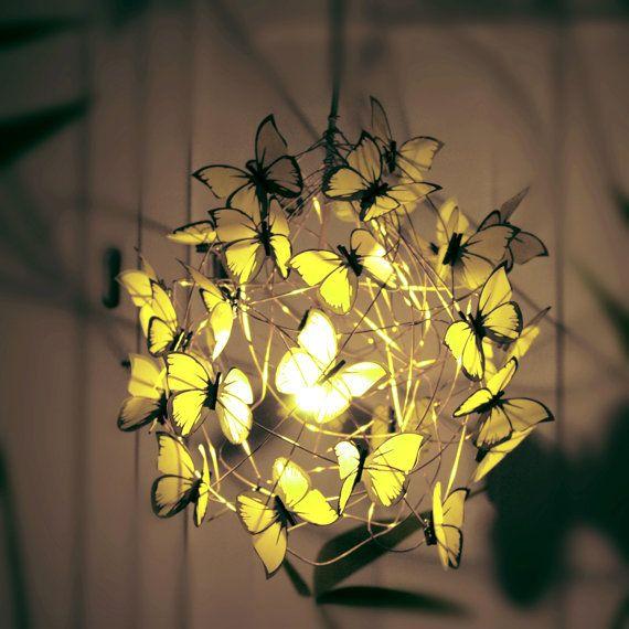 Handmade Wire Lamp Shade Butterfly Lamp Fairy Lamp Art Lamp
