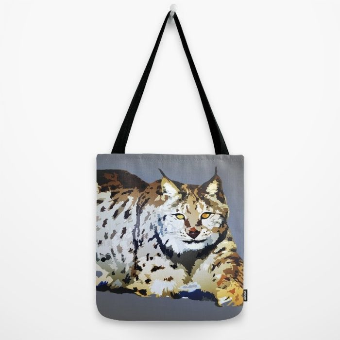 Lynx Tote Bag by Animilustration | Society6