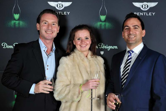 Steed Taylor, Zantelle van der Linde and Rens Rademeyer of Bentley Motors South Africa
