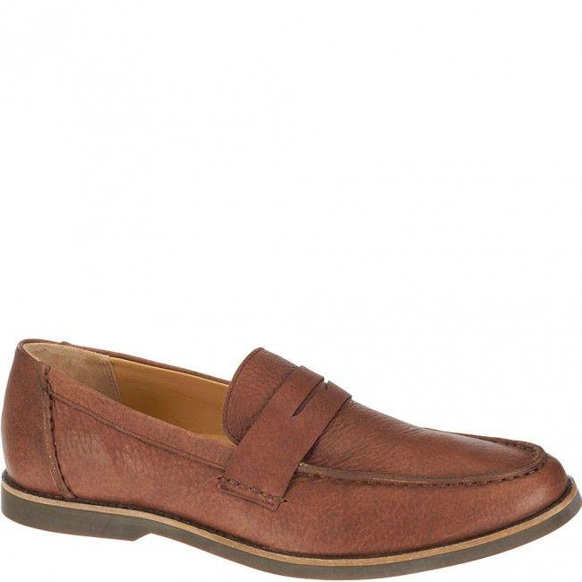 810320 Sebago Men's Norwich Penny Bison Casual Shoes - Brown www.bootbay.com