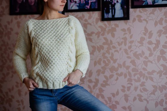 Sweater milk от Bukreevaknit на Etsy