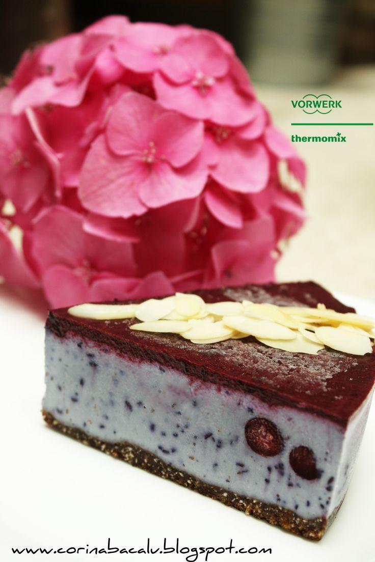 Blackberry Cake.  Raw Vegan Sweet by Corina Bacalu