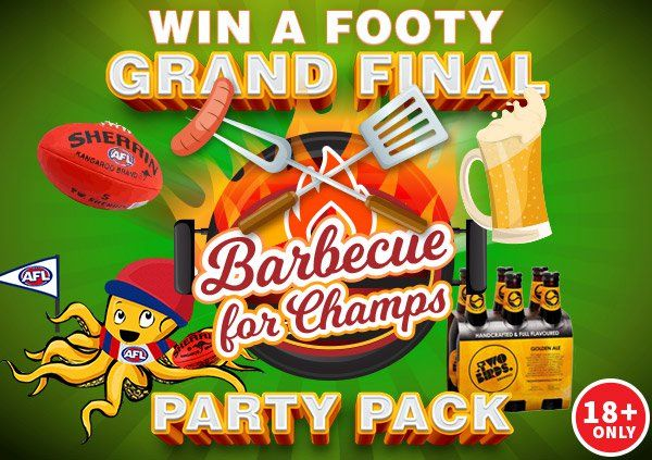 Win a Grand Final BBQ for Champs party pack http://vy.tc/bjgN4