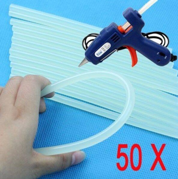 Prezzo più basso 50 Pz 7mm x 100mm Sereno Colla Adesiva Bastoni Per Hot Melt Colla stick per Glue Gun Craft Audio Car Lega Accessori
