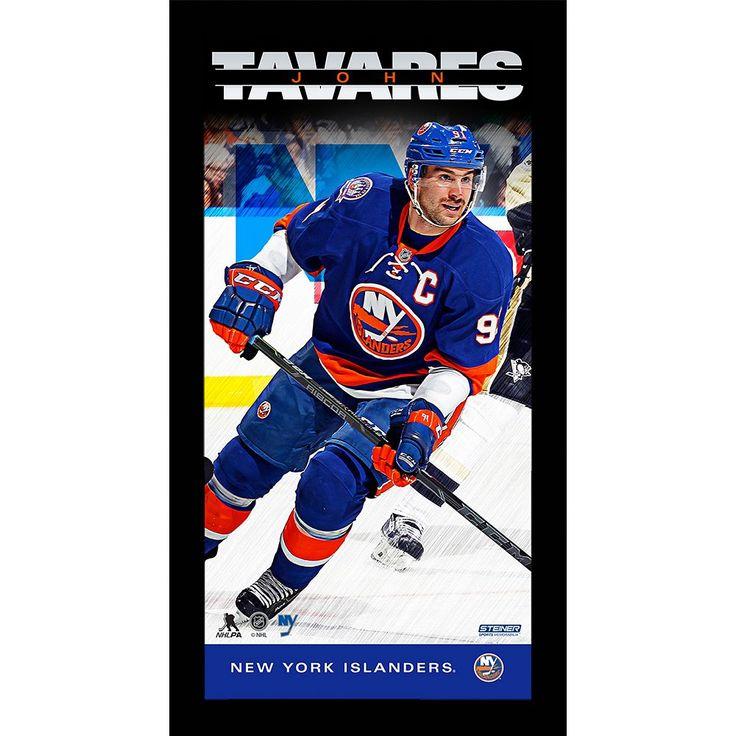 "Steiner Sports New York Islanders John Tavares 10"" x 20"" Player Profile Wall Art, Multicolor"