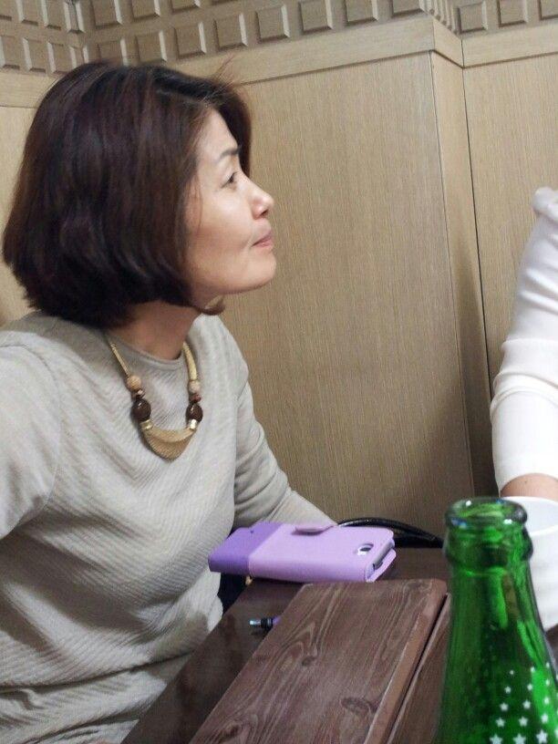 인천에서 모임 중 박현선 동문 모습