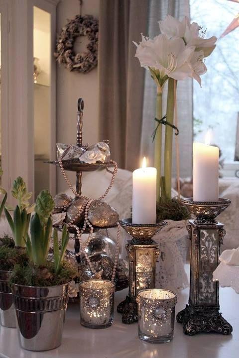 Best Lovely Mercury Glass Images On Pinterest Mercury