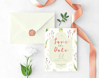 30 Best Wedding Invitations Printable Images On Pinterest Bridal