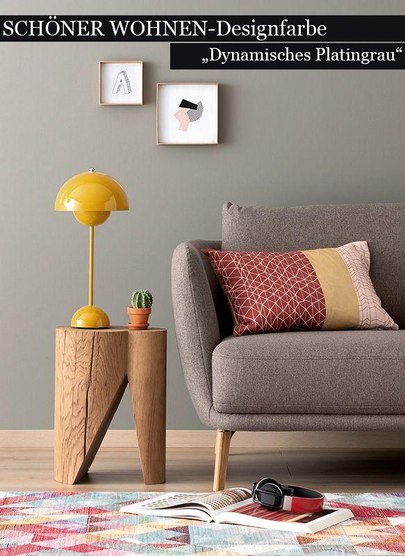 Dynamisches Platingrau Nr 2 Bild 2 Inneneinrichtung Wandfarbe Wohnzimmer Nordisches Design