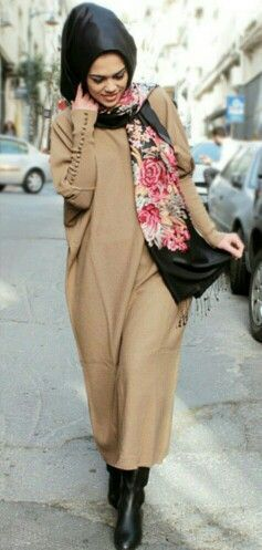 Image result for winter sweater dress hijab fashion