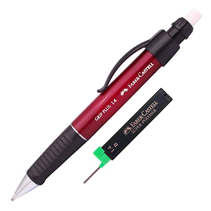 Faber Castell Grip Plus Mechanical Pencil 1 4 Mm Red Body Super
