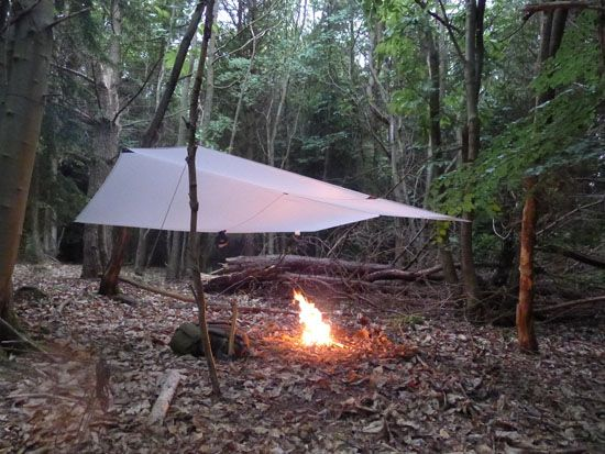 Including a tarp in your day-pack makes sense anywhere you might have damp or cold-damp weather and you can string up a tarp and have a fire - for comfort or in an emergency.