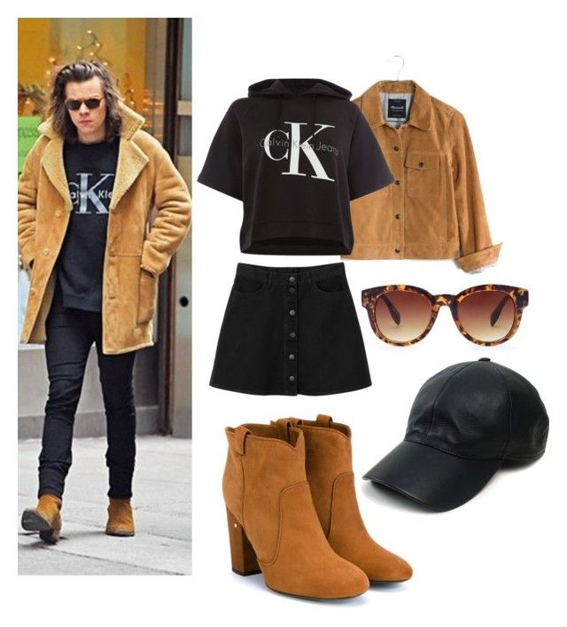 """Harry Styles Inspired Look for Girls"" by giuliaaa-127 on Polyvore featuring Madewell, Calvin Klein, Monki, Laurence Dacade, Forever 21, Vianel, women's clothing, women, female and woman"