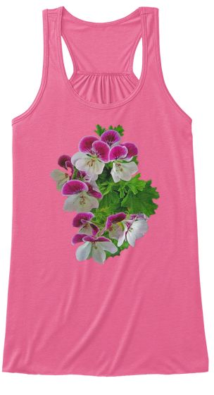 Orchid Flower Neon Pink T-Shirt Front