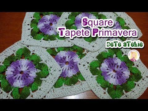 Estou aguardando ansiosa a chegada da primavera, por isso nessa vídeo aula vamos aprender a fazer um square para confeccionar um lindo tapete. Material: Fio ...
