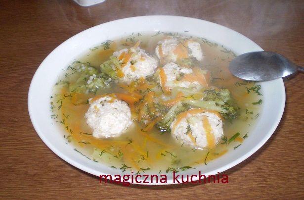 zupa z pulpetami z mięsa indyka i kaszy jaglanej