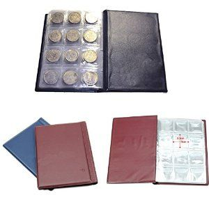 Amazon.com : Bhbuy Hot 120 Coin Holder Collection Storage Collecting Money Penny Pockets Album Book : Office Products
