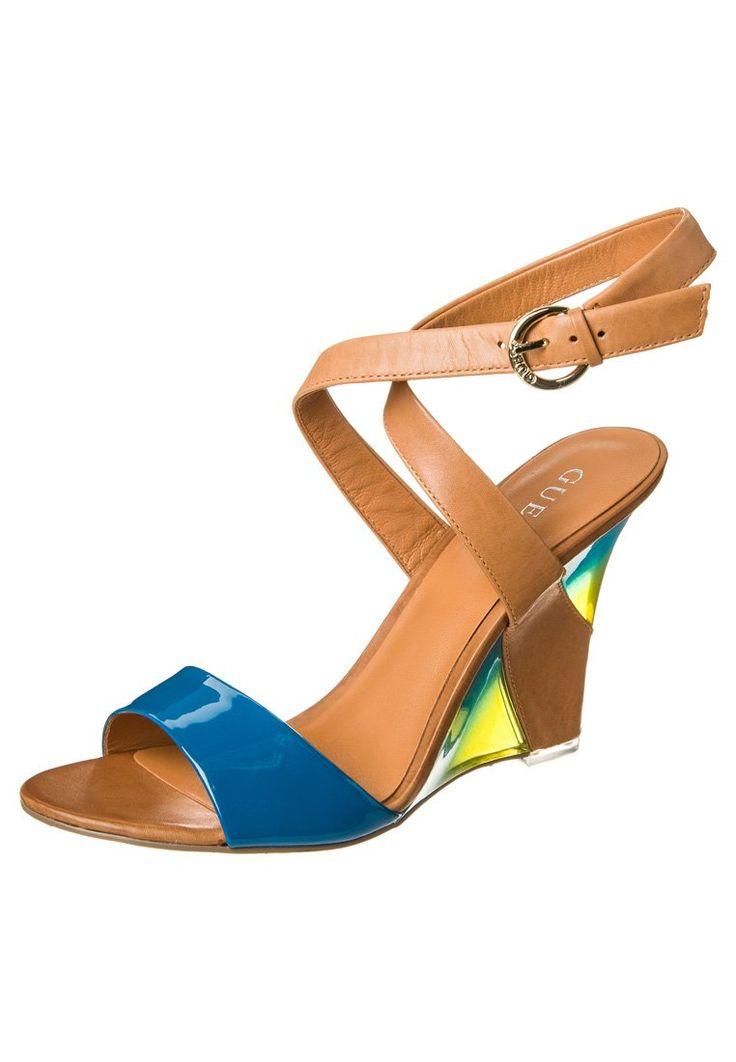 Guess PELANOR - Sandaler med høye hæler - blå - Zalando.no