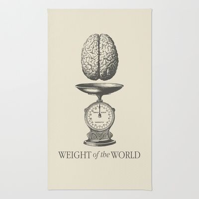 Weight of the World Area & Throw Rug by Nameless Shame - $28.00