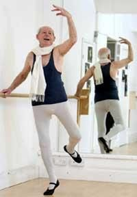 88 year old that decided to start ballet after watching his grand daughter take it up