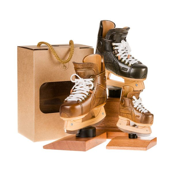 Wooden hockey ice skate. Unique sports gift. Gift for hockey player. Personalized gifts. Sport gift ideas for him. Custom hockey trophies. by sportgifts on Etsy https://www.etsy.com/listing/252487366/wooden-hockey-ice-skate-unique-sports
