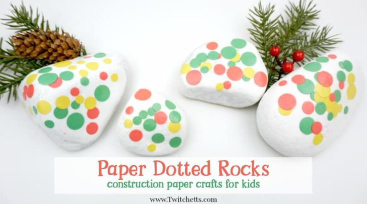How to make dotted rocks using construction paper