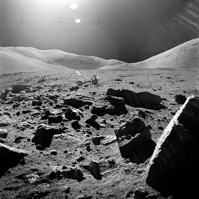 Moon: Rocky moon surface