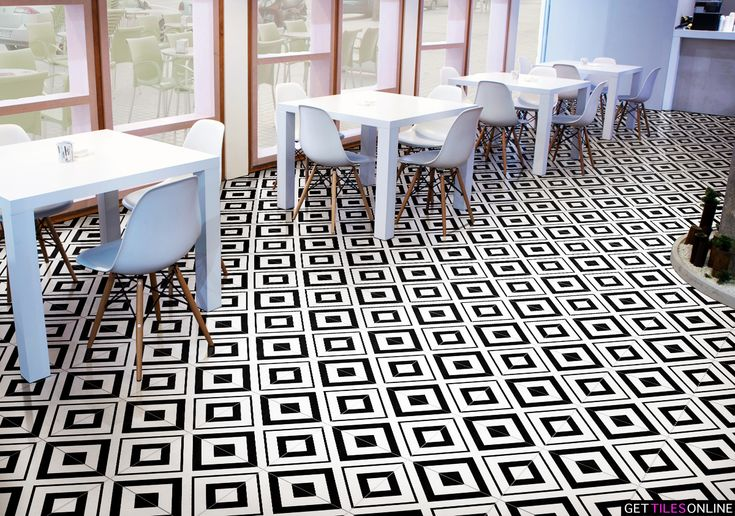Keith Geometric Black Matt 200x200 (Code:01431) - Get Tiles Online
