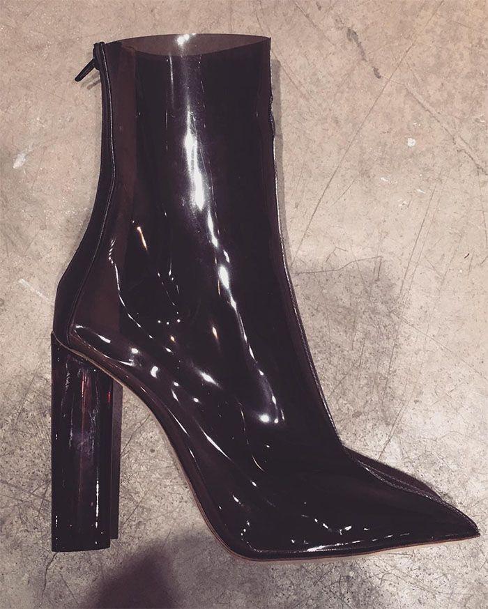 Yeezy Season 3 claear heel boots