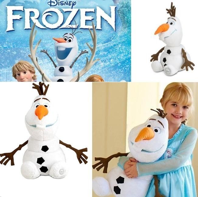 "12"" Disney Frozen Character Doll Talking Singing Animated Olaf Toy Plush Snowman"