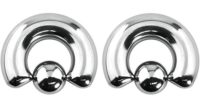 Forbidden Body Jewelry Pair Of 0g 12mm Surgical Steel Captive Bead Ring Body Piercing Hoops 10mm Balls 2pcs Body Jewelry Body Jewelry Piercing Body Piercing