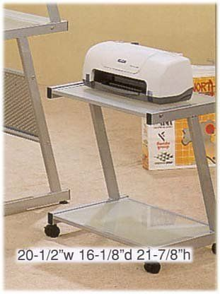 PRINTER STATION IN SILVER FINISH by Cross Country Furniture. $72.20. PRINTER STATION IN SILVER FINISH