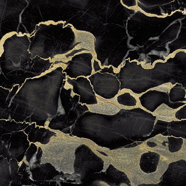 Polished Italian Portoro Black And Gold Marble Tiles And