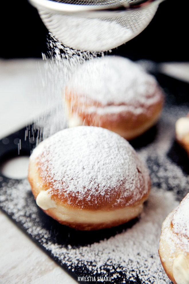 Doughnuts with custard pudding