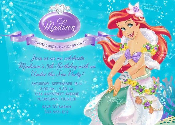 25 best Little Mermaid Birthday Ariel Birthday Party images on – Ariel Birthday Card