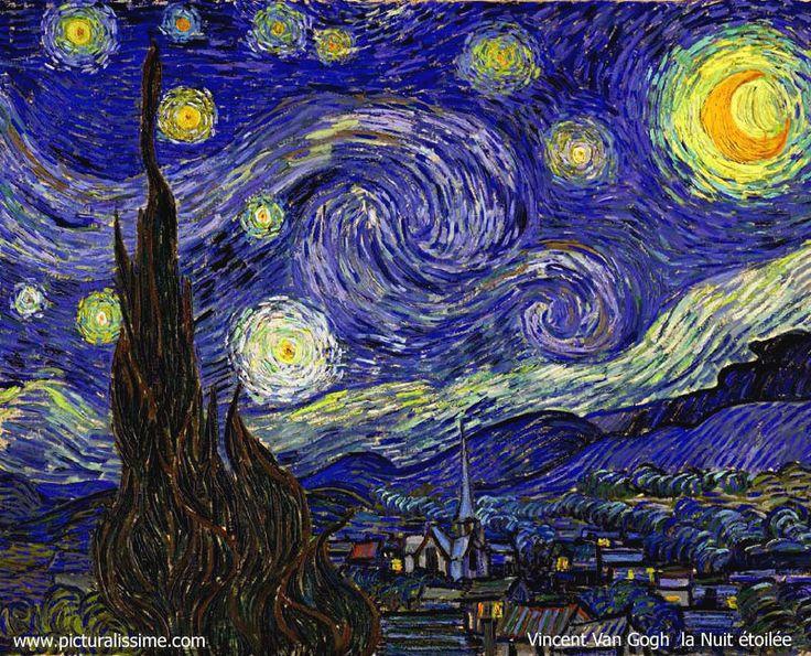 La nuit étoilée - Vincent Van Gogh (MOMA/ NYC) « Au lieu d'essayer de reproduire exactement ce que je vois devant moi, je me sert arbitrairement de la couleurpour m'exprimer avec plus de force. »