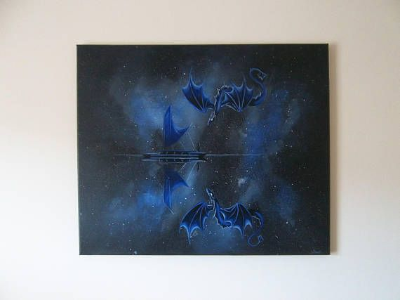 Hand painted original signed canvas 'Dreamscapes and fairytails II'