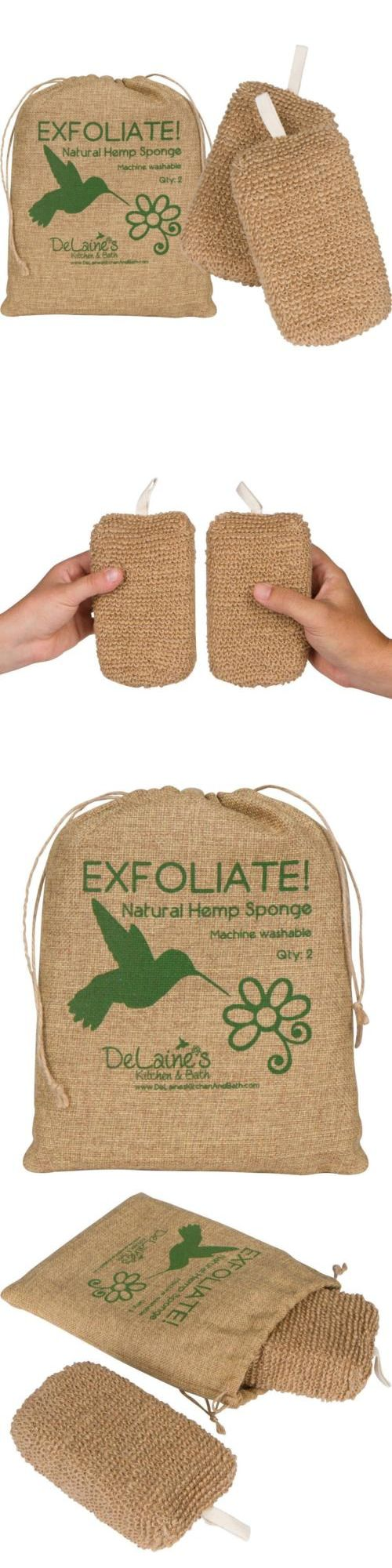 Bath Brushes and Sponges: Delaine'S Exfoliating Body Scrubber - Natural Hemp Covered Sponges Set Of 2... -> BUY IT NOW ONLY: $75.38 on eBay!