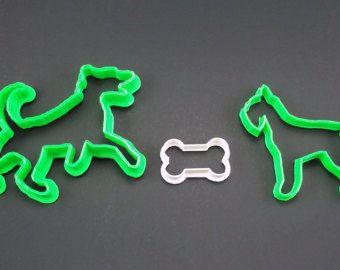 2 dogs 1 bone cookie cutter - Emporte-pièces 2 chiens et 1 os - Modifier la fiche - Etsy