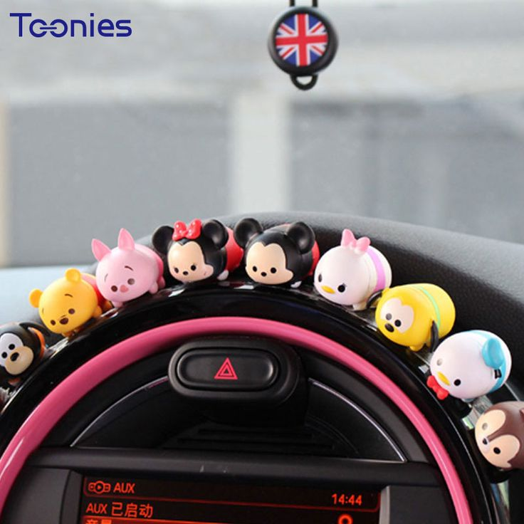 Smart fortwo 10 pieces car dashboard ornament silicone creative cartoon ornaments car decoration accessories toy model articles