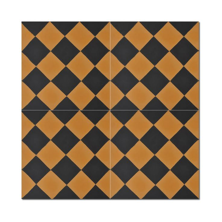 Mosaic Rabat Gold Handmade Moroccan 8 x 8 inch Cement and Granite Floor or Wall Tile (Case of 12) (Rabat gold), Black