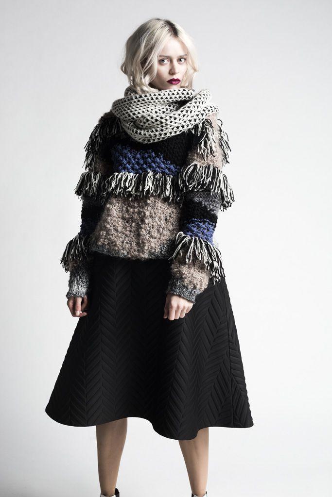 fringe festival. Yuko Patchwork Sweater