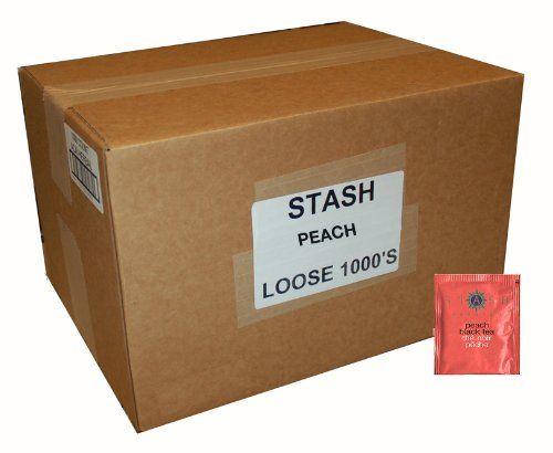 Stash Tea Peach Black Tea, 1000 Tea Bags in 8.58 Pound Box ** See this awesome image  : Fresh Groceries