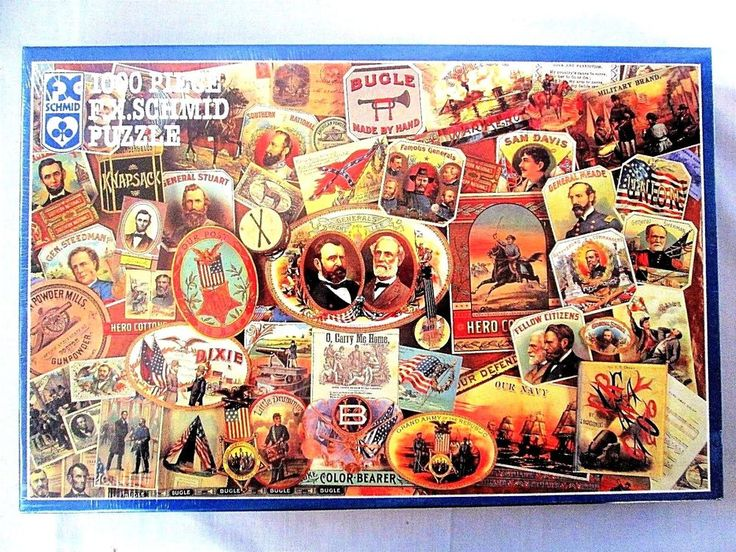 CIVIL WAR PUZZLE 1000 pc FX Schmid Memories of the Blue and Gray Jigsaw ~ SEALED #FXSchmid