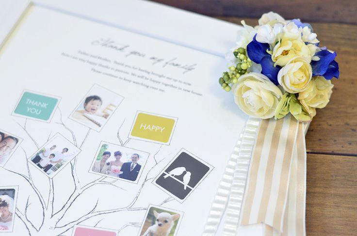 ファミリーツリー・結婚式のご両親へのプレゼント/ファミリーツリー:ブラン(Sサイズ)