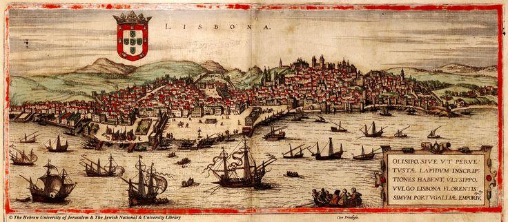 Map of Lisbon, Braun and Hogenberg, 1572