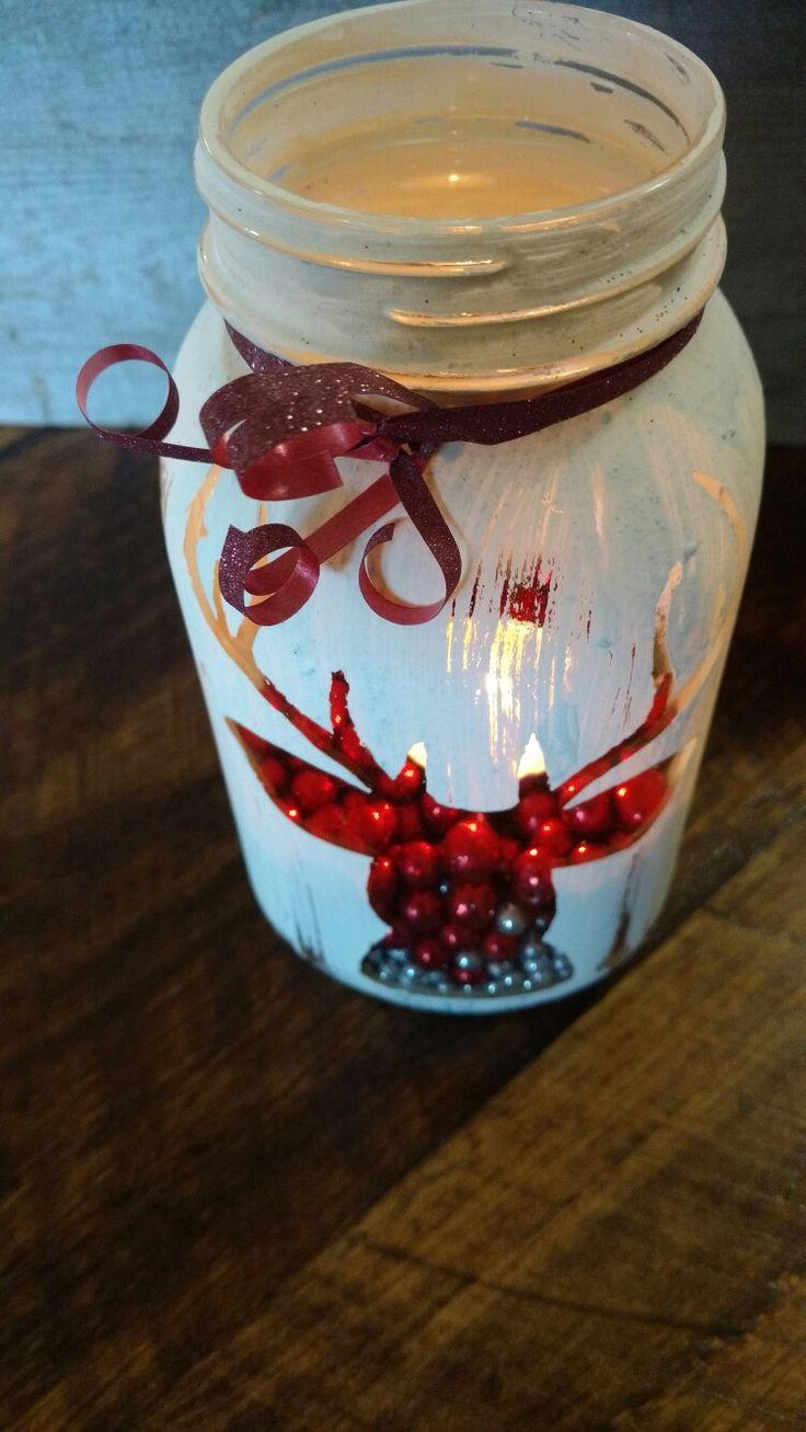 Decorative mason jars. Viedeflaneries etsy shop.