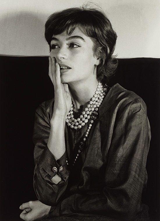 """lauramcphee: """"Anouk Aimée, Paris, 1962 (Gisèle Freund) """""""